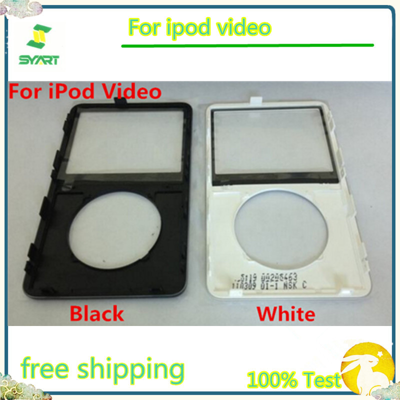 Black White Transparent Plastic Shell Front Cover Panel Plate Faceplate Housing For IPod Video