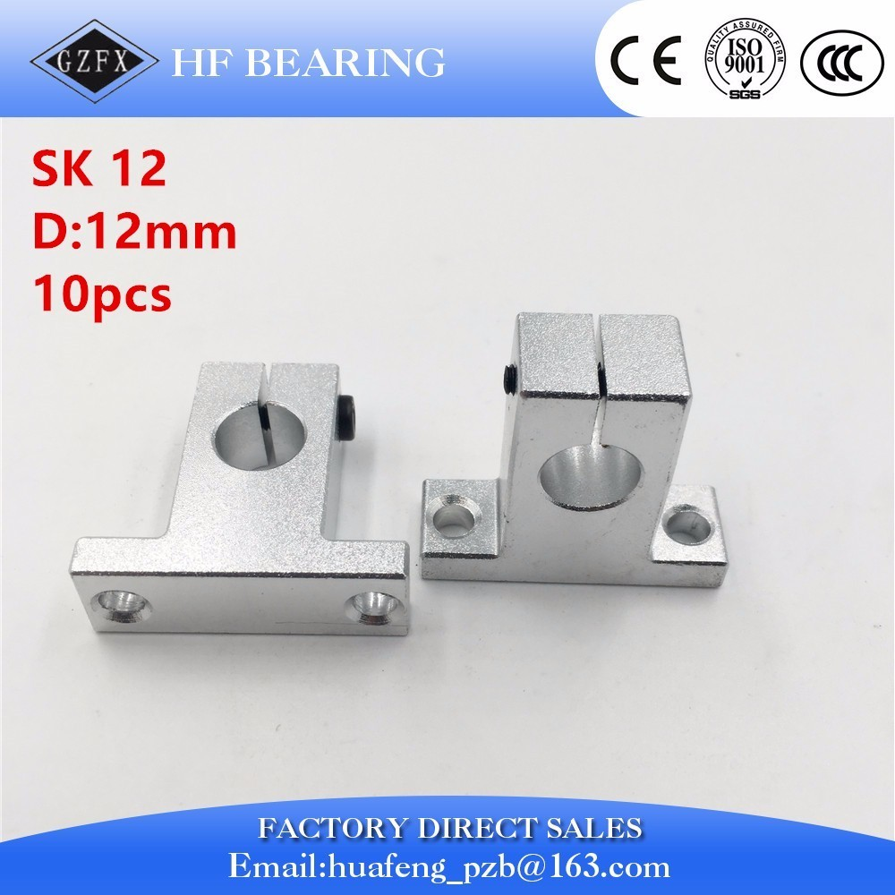 10PCS SK12 12mm linear rail shaft support block for cnc linear slide bearing guide Parts 4pcs sk12 sh12a 12mm linear rail shaft support block for cnc linear slide bearing guide cnc parts ali88