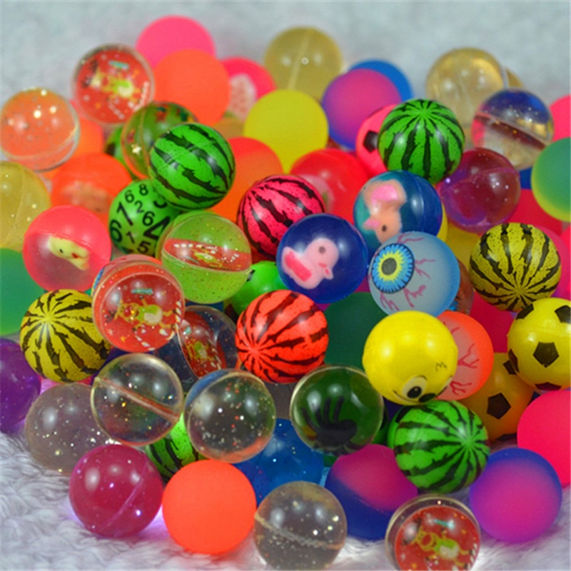 100Pcs Kids Magic Bouncy Jumping Floating Bouncing Balls Rubber For Children Summer Water Pools Toys in Water Balloons from Toys Hobbies