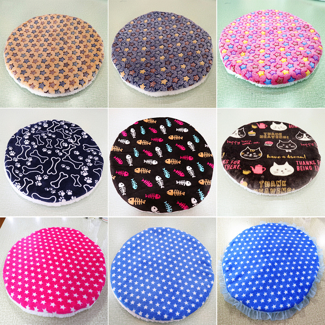 Colorful print  Dog Beds  Warm Soft Blanket For Small Medium Pet Cat Sleeping Mat Mattress Cushion 42x42cm 3