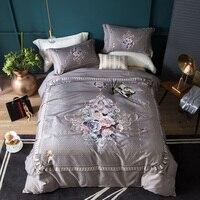 Египетский хлопок роскошный европейские постельные принадлежности набор королева король размер простыня комплект белья Богемия Бохо комп