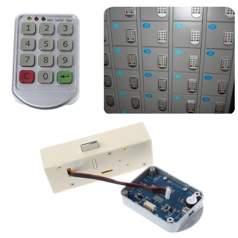 Electronic Digital Keypad File Supermarket Intelligent Cabinets Door Code Number Password Lock