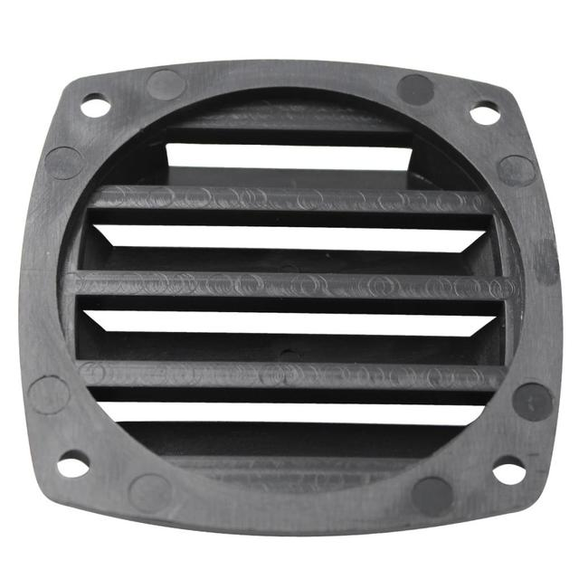 3 Polegada preto plástico louvered aberturas ventilação marinha ventilação para barco iate acessórios de ventilação de ar 8.5cm * 8.5cm * 2.5cm