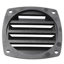 Rejillas de ventilación de plástico negro de 3 pulgadas, ventilación marina para barcos, yates, accesorios de ventilación de aire de 8,5 cm * 8,5 cm * 2,5 cm