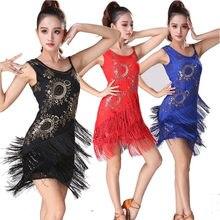 2662cac74b para mangas la moda Danza Rumba vestido de tango Salsa de falda bordado de  las Sexy ...