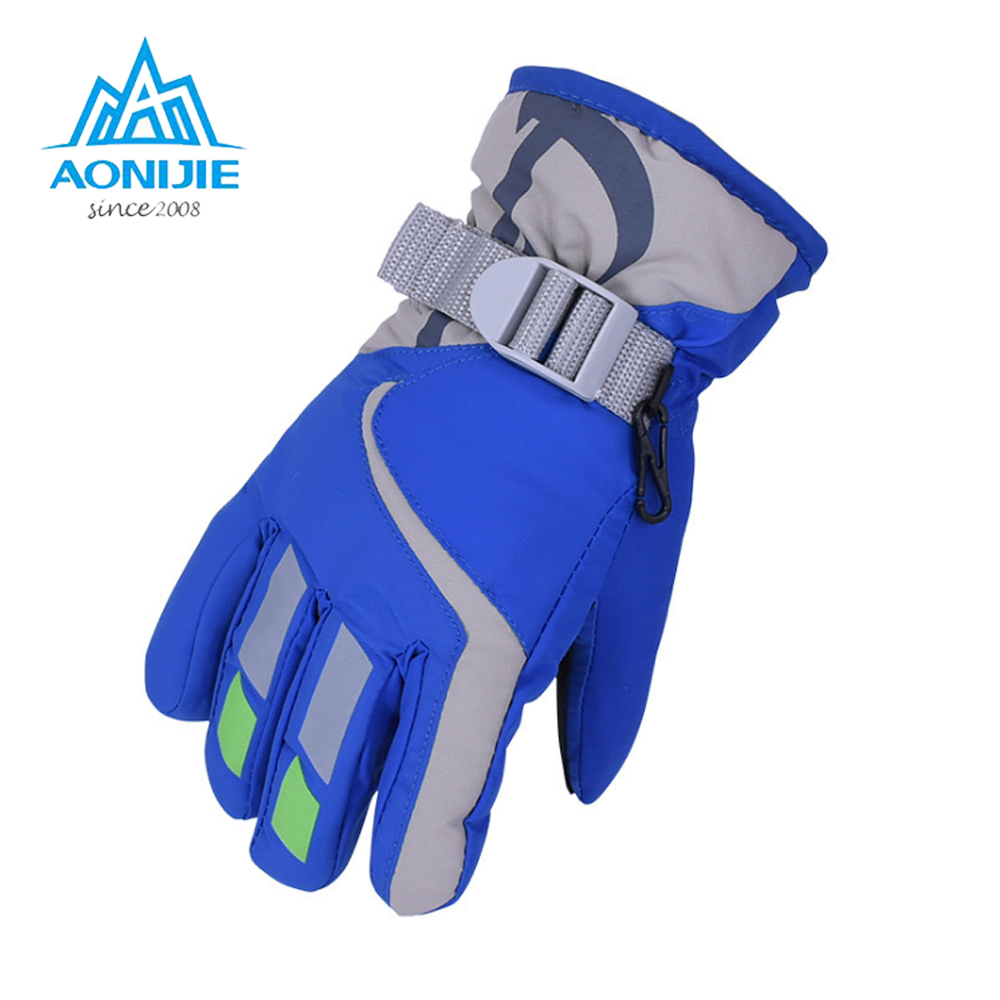 Kids Boy Girl Ski Gloves Snowboard Gloves Motorcycle Winter Skiing Climbing Waterproof Snow Gloves Windproof Thinsulate Mittens Apparel Accessories