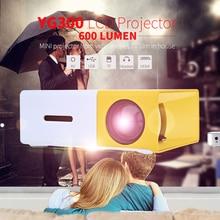 YG300 Proyector LCD Portátil YG-300 600LM 3.5mm de Audio 320x240 Píxeles HDMI USB Mini Projetor Home Theater Multimedia jugador
