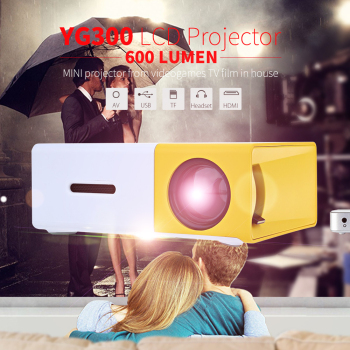 YG300  Projector Portable LCD 600LM 3.5mm Audio 320×240 Pixels YG-300 HDMI USB Mini Projetor Home Theater Media Player