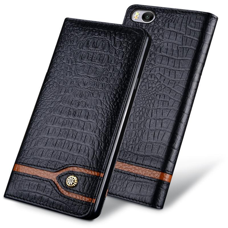 Цена за Новый Роскошный Оригинальный Бренд Натуральной Крокодиловой Кожи Телефон Случаях Для Xiaomi mi5s Модные Сумки Телефон Для Xiaomi Mi 5S
