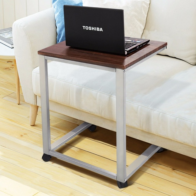 Rolling Ottoman Coffee Table.Us 36 41 15 Off Giantex Coffee Tray Sofa Side End Table Modern Lap Stand Tv Snack Ottoman Couch Room Rolling Living Room Side Table Hw54185 In
