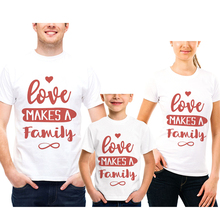Sale Mother Daughter Clothes New Cotton Love Family Look Outfits Creative Letter Father Son Short T-Shirt Couple Clothing