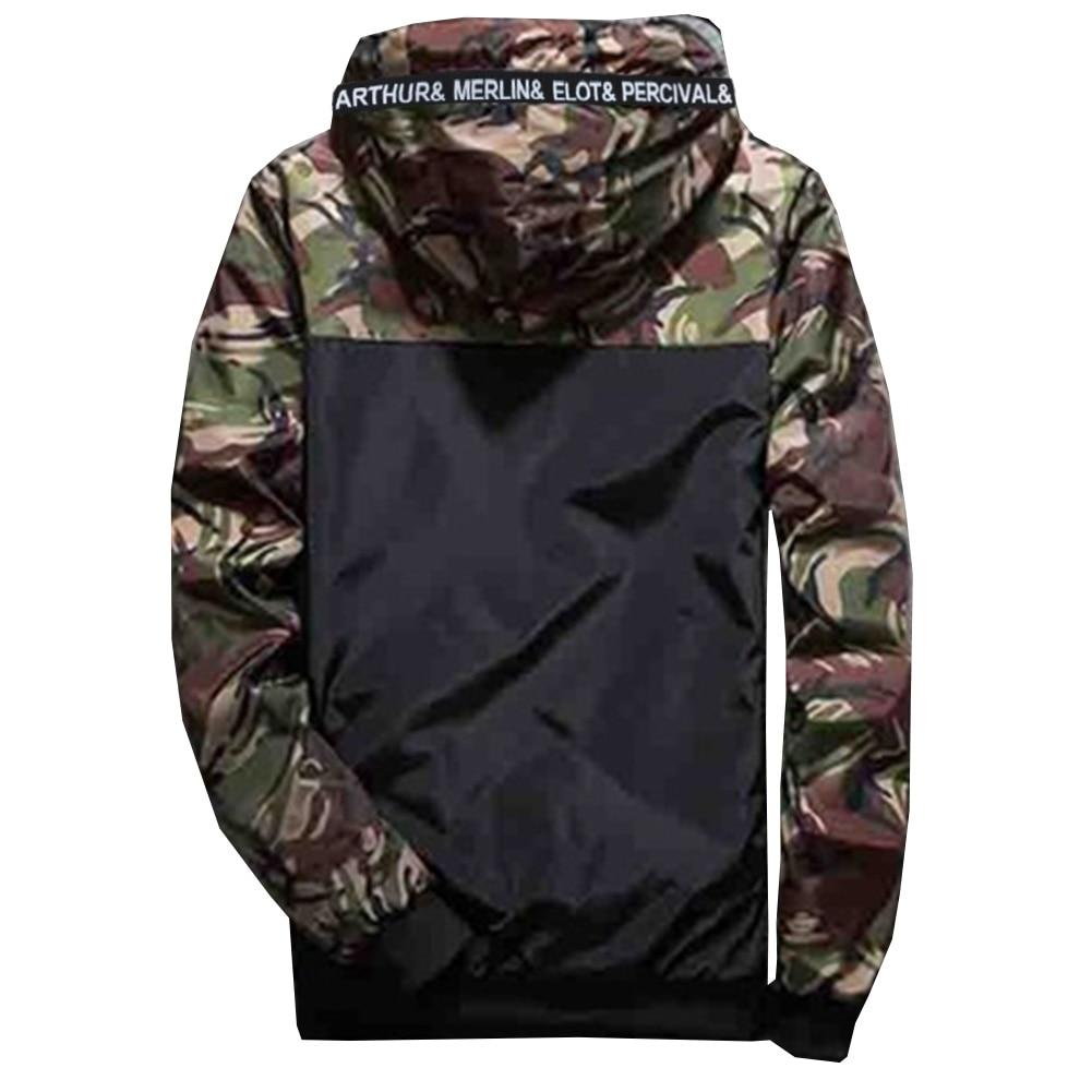 Brand New Streetwear Classic Fashion Jackets Military Style Jacket Men Camouflage Patchwork Long Sleeve Jacket Plus Size M-XXL