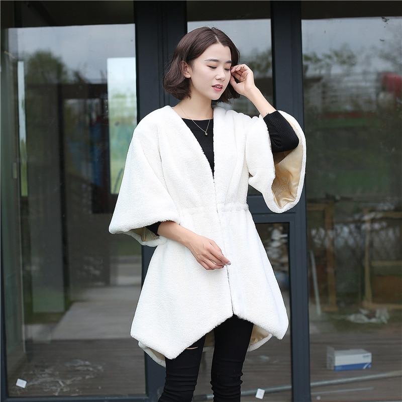 1b42275dc3 ... a moda en El. Comprar 2018 nueva moda de otoño mujeres faux fur coat  tamaño personalización suave larga chaqueta venta de la fábrica Online  Baratos.