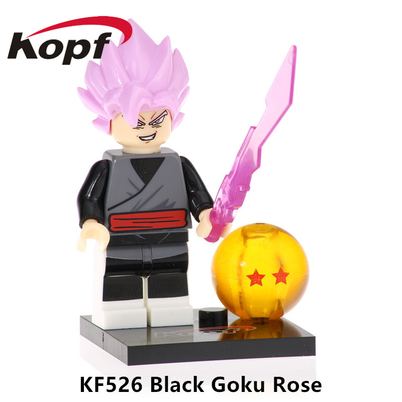 Toys & Hobbies Genteel 20pcs Kf526 Building Blocks Dragon Ball Z Figures Black Goku Rose Dyspo Zamasu Bricks Gift Action Collection For Children Toys Special Buy