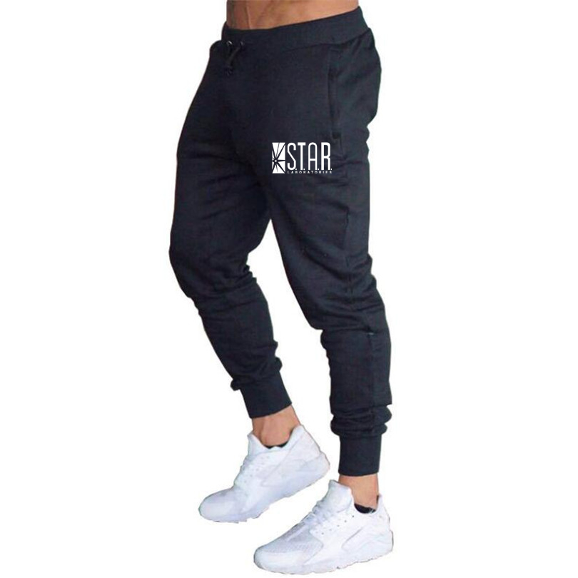 Free Shipping Hot 2018 Autumn Men Pants,fashion Men Pants STAR S.T.A.R.labs Casual Slim Fit Mens Joggers Sweat Pants Large Size