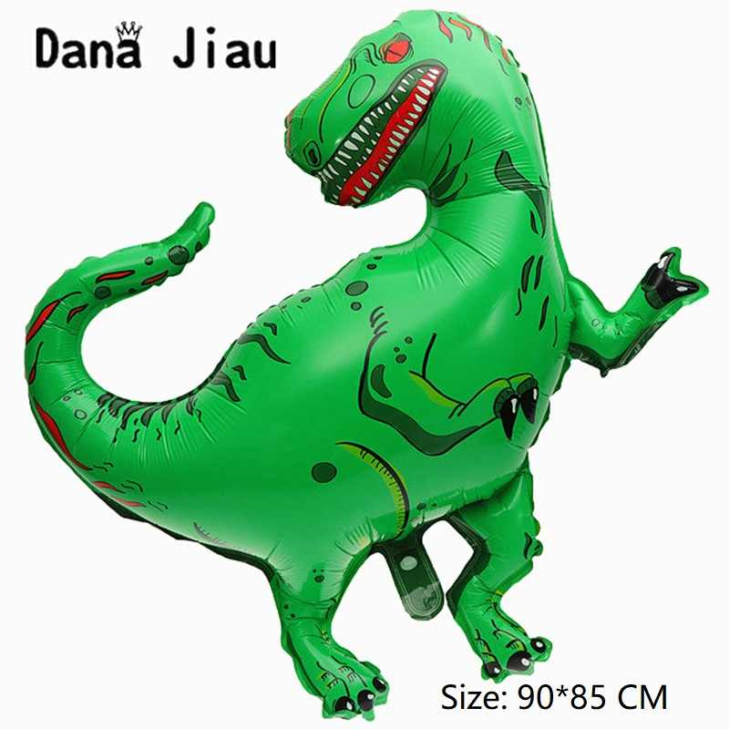 Dana Jiau новый динозавр фольги воздушный шар День Рождения вечерние декоративные Детские игрушки надуть баллон гелия животных на тему зоопарка декоративный шар