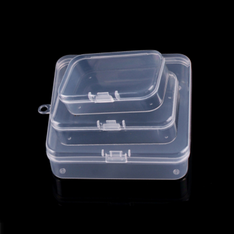Storage Box Small Case PP Plastic Container Baby Teether Jewelry Mini Organizer Clear Gift Home Rectangular Decoration 15PCS