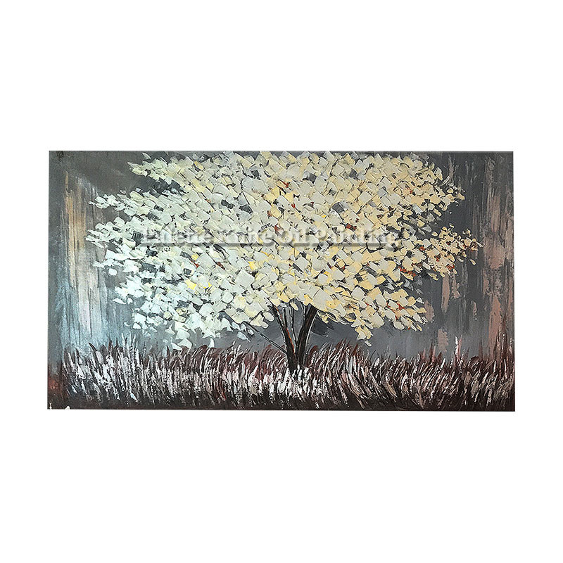 Painting of Modern Hand Painted palette knife 3D texture Flower Tree - Home Decor - Photo 6
