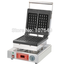 220V Commercial Use Non-stick Electric Temperature Display Belgian Waffle Baker Maker Iron Machine
