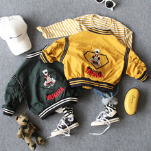 only jacket 1pc 2-8Y new 2018 autumn fashion style boys casual jacket
