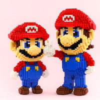 Funny micro building bricks nintendoes game image super mario bros Connecting Block assemble toys model collection