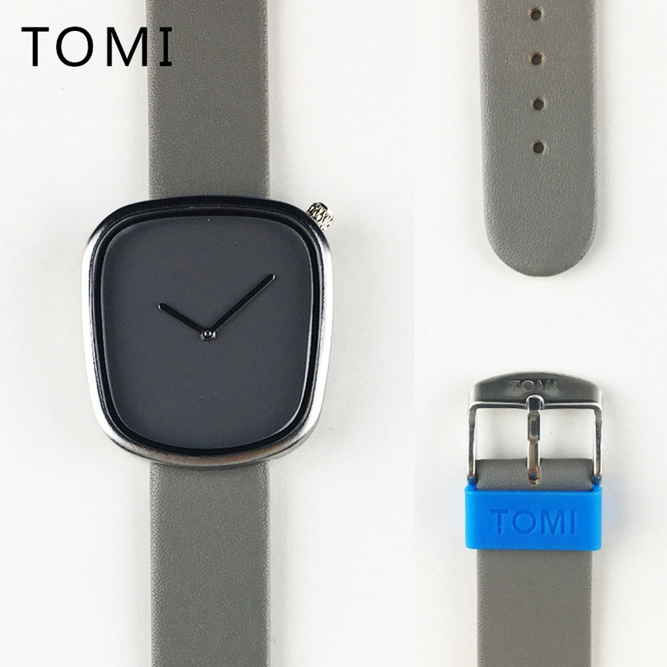 все цены на Tomi Brand 2017 New Arrival Simple Luxury Men Watches Fashion Casual Quartz Leather Strap Business Dress Male Gift Clock T003 онлайн