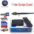 Mejor Cline para 1 Año Freesat HD V7 receptor de Satélite Cccam PowerVu Apoyo DVB-S2 + WiFi USB Europa Italia España Servidor Cccam HD