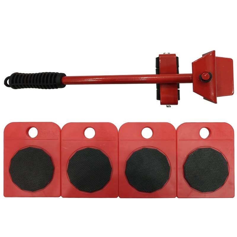 5 piezas herramientas de mano transporte de Muebles Lifter y muebles diapositivas (motor rodillos) 4 ruedas esquina motores + 1 rueda