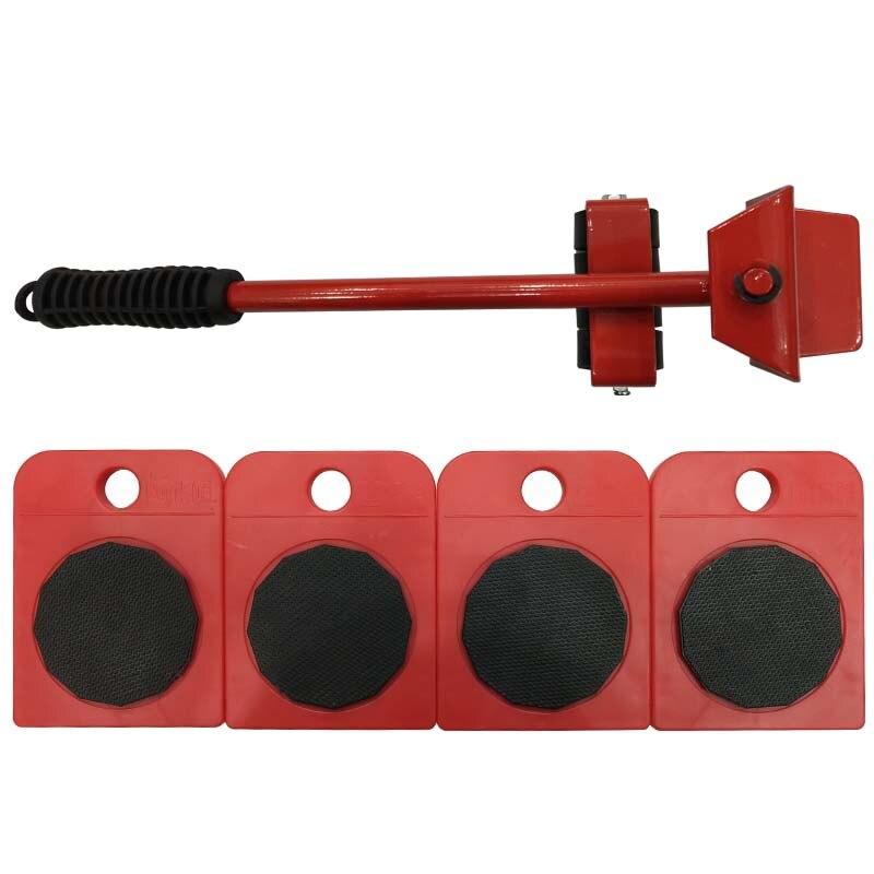 5 stücke Handwerkzeug Set Möbel Transport Set Möbel Lifter & Möbel Rutschen (Mover Rollen) 4 Rädern Ecke Movers + 1 Rad