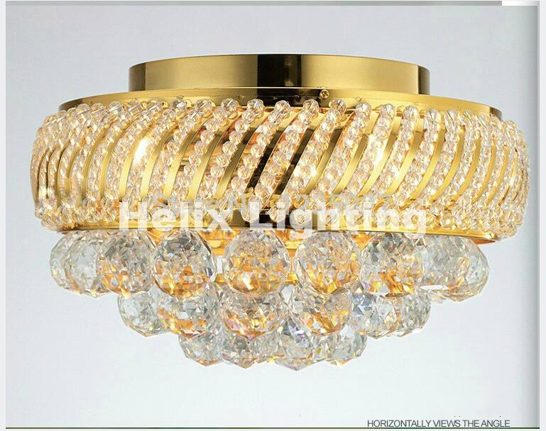 Modern K9 Crystal Ceiling Light Fixture Gold Ceiling Light Lighting Lamp Flush Mount Guaranteed 100% AC LED Ceiling Lighting free shipping high quality modern crystal ceiling lamp golden crystal ceiling lighting sy4062 4l d500mm ac 100