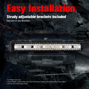 """Image 5 - MICTUNING 20"""" Five Row Car LED Straight Work Light Bar 126W Combo Beam Roof Driving Fog Lamp 10500LM for SUV Motorcycle Offroad"""