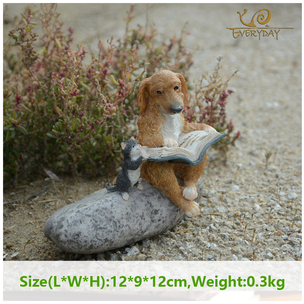 Everyday Collection Dog Miniature Home Decoration Accessories Fairy Garden Animal Figurines Resin Crafts Car Decor Birthday Gift