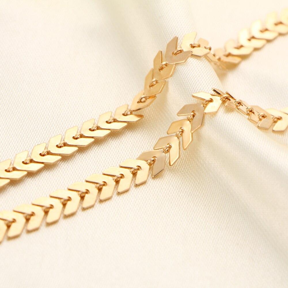 Fou Feng à la mode collier ras du cou tatouage clavicule Collares femmes bijoux feuille poisson os Triangle chaîne flèches minimaliste 5