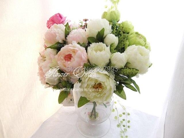 Noble Large Silk Peony Flowers,artificial Flower Arrangements Bridal  Bouquet,wedding Party,Home Decorations Table Centerpiece