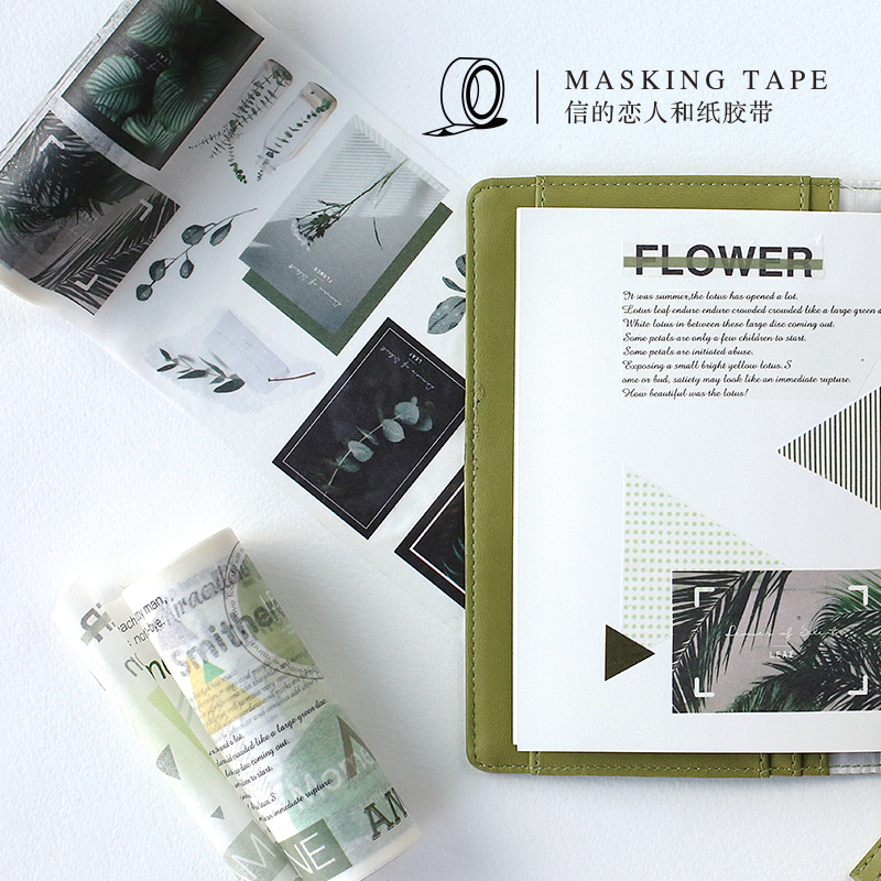 Summer Journey Washi Tape Wide DIY Stickers Scrapbooking Masking Tape Label Sticker Japanese Stationery