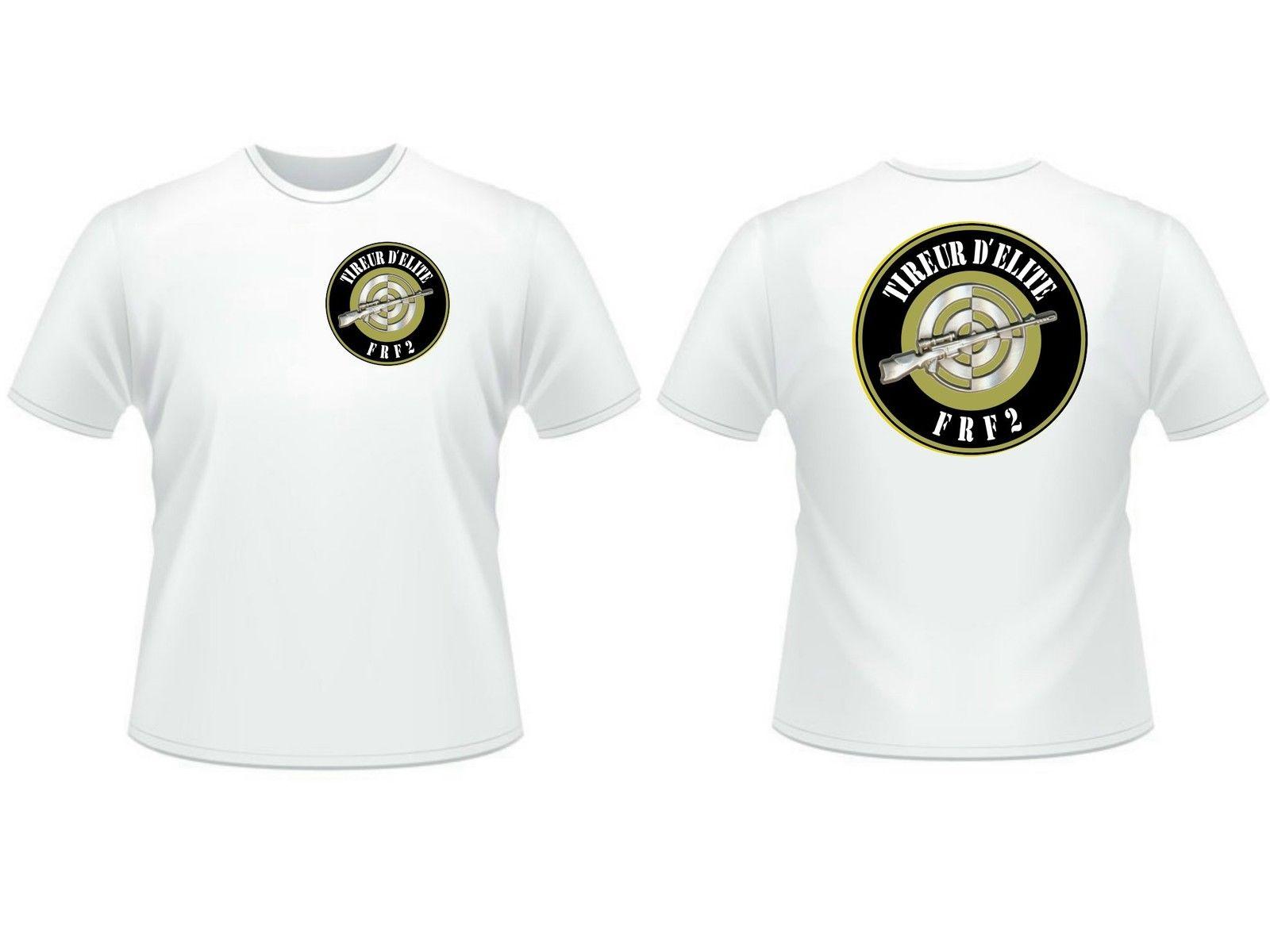 2018 Для мужчин прохладный Футболка ..:: Футболка: .. Tireur d'elite FRF2-brevet-МДП Снайпер armee-du S AU XXL летняя футболка