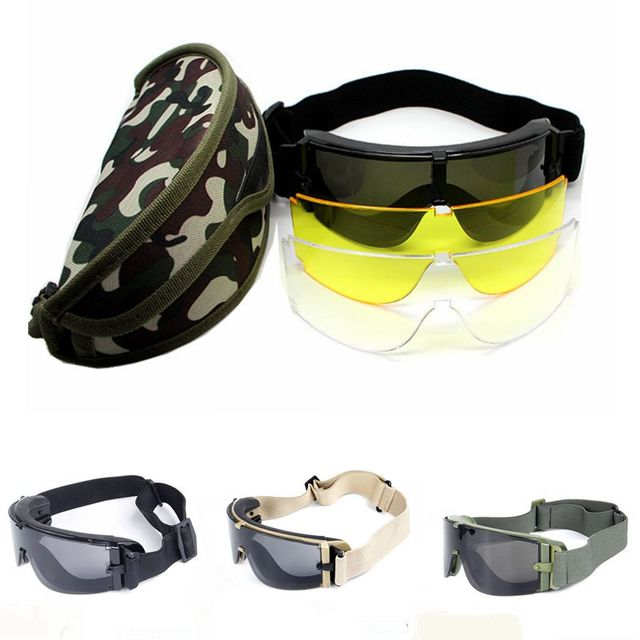 b6d3ded1845 Hot Sale!Military Airsoft X800 Tactical Goggles USMC Tactical Sunglasses  Glasses Army Paintball Goggles