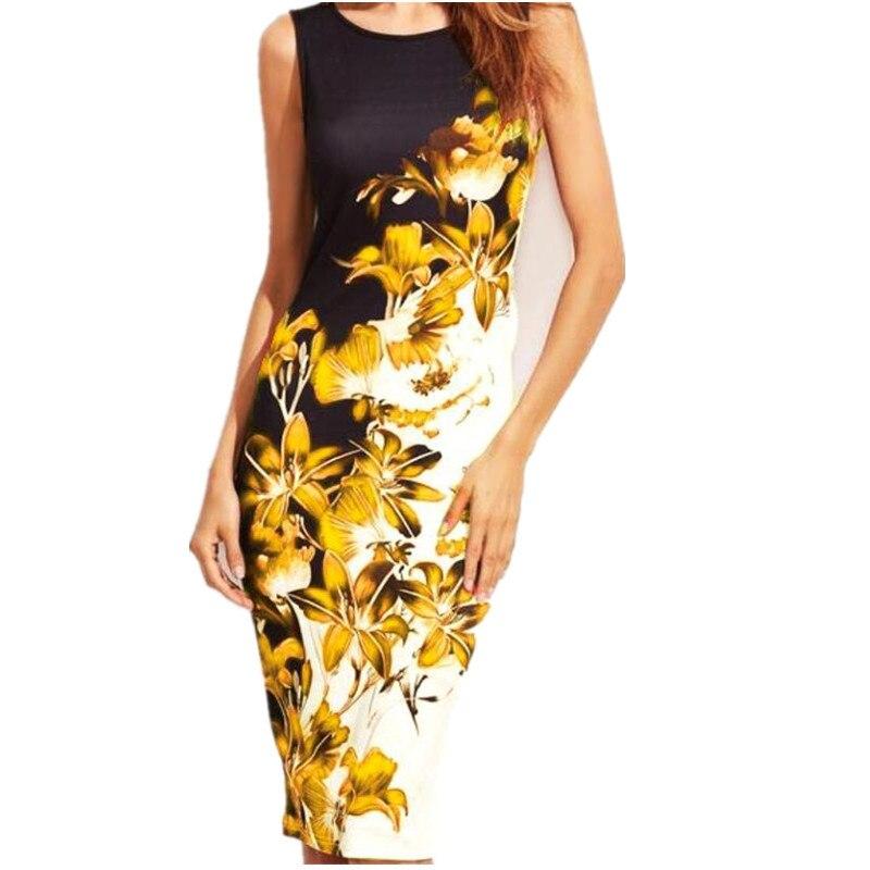 5XL-Large-Sizes-2019-Summer-Fashion-Sleeveless-Print-Dress-Slim-Bodycon-Pencil-Midi-Office-Dress-Robe (3)