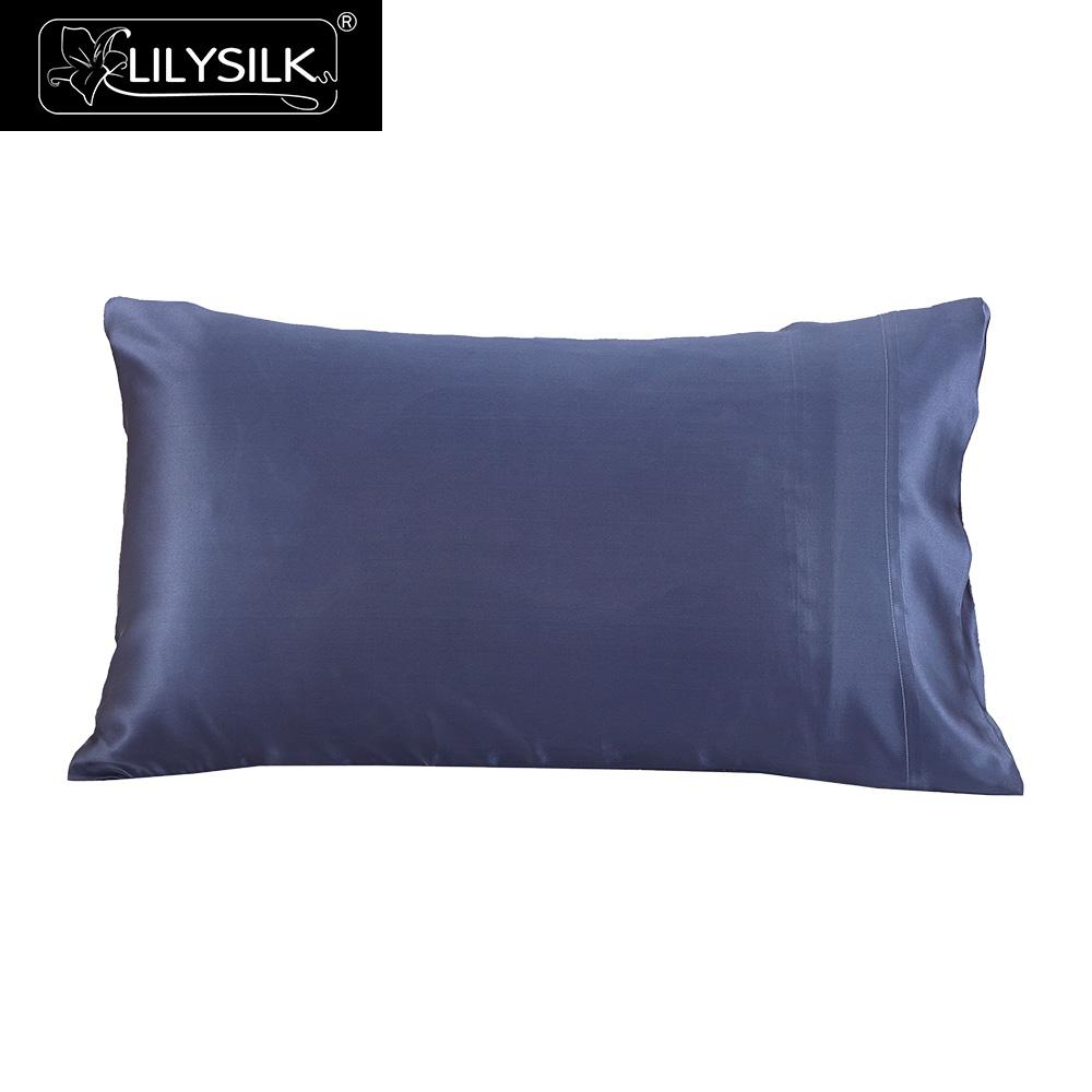 LilySilk Pillowcase 100 Pure Silk Natural for Hair Luxury 22MM Terse Mulberry 40x40 50x90cm Home Textile