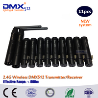 DHL Free Shipping DMX Stage Wireless 3 Pin Male Transmitter and Female Receiver dmx 512 controller