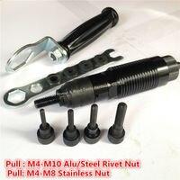 Cordless Drill Rivet Nut Tool Kits M4 M10 Battery Riveter Nut Adaptor Cordless Drill Adapter Riveting