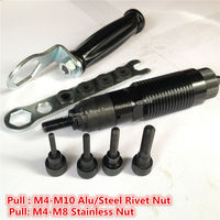 Cordless Drill Rivet Nut Tool Kits M4 M10 Battery Riveter Nut Adaptor Cordless Drill Adapter Riveting