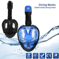 SMACO 2018 new Underwater Scuba 100% Anti Fog Full Face Diving Mask Snorkeling Set Respiratory masks Safe for Adult and Childer