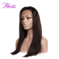 Pre Plucked Full Lace Wigs With Baby Hair Bleached Knots Straight Wig Human Hair For Women 130% Density Brazilian Remy Hair Wigs