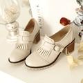 fashion women shoes 2017 spring summer women high heels platforms shoes thick heel sweet shoes comfortable big size