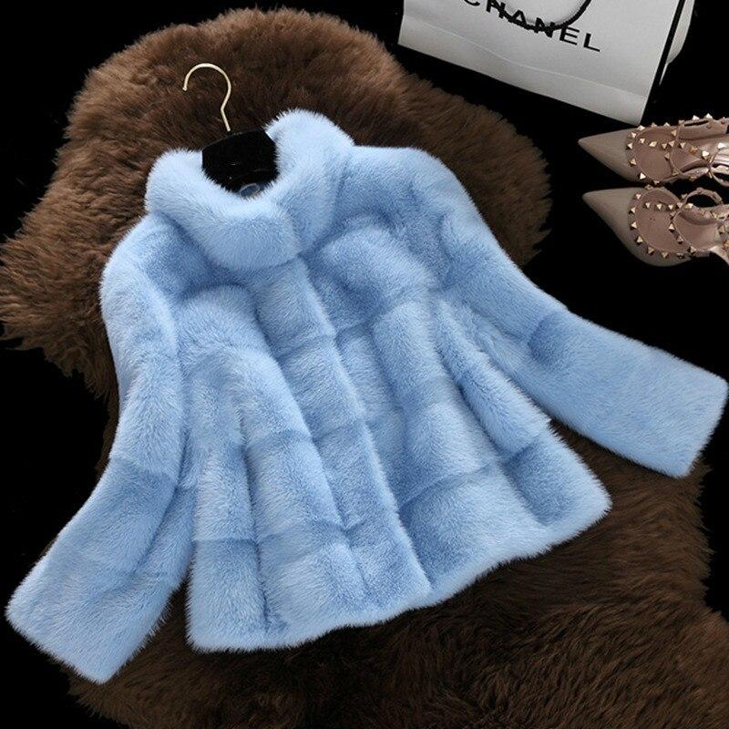 TUHAO 2018 WINTER Women Coat Faux Fur Long Sleeve OFFICE LADY 3XL Women Fur Coat Fur