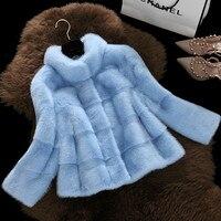 TUHAO 2018 WINTER Women Coat Faux Fur Long Sleeve OFFICE LADY 3XL Women Fur Coat Fur Jacket Coat Short Female Coats Outwear
