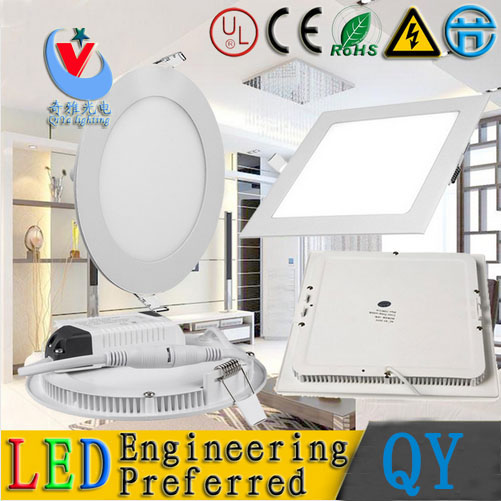 20pc/lot 3w 4w 6w 9w 12w 15w 18w SMD 2835 LED Panel light 85-265vac panel recessed led ceiling down