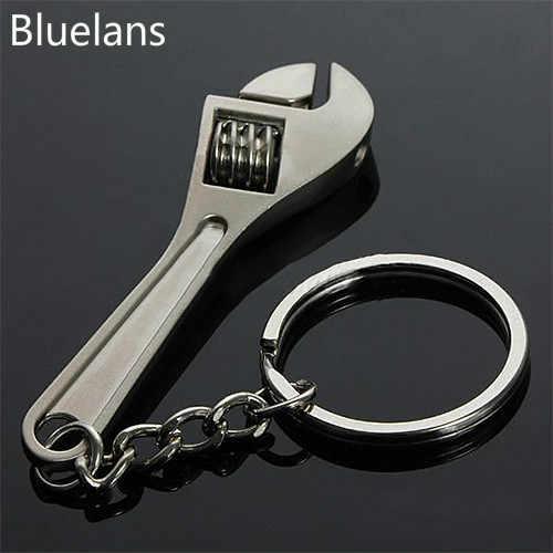 Moda mini ferramenta chave chave chave chaves anel metal chaveiro trinket chaveiro jóias para mulheres presentes de natal bluelans