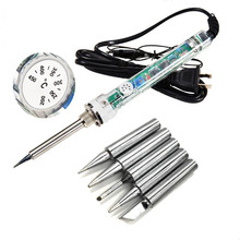 907 Adjustable constant temperature Internal heating electric soldering iron Soldering Station +5pcs tip 220V60W Replace HAKKO